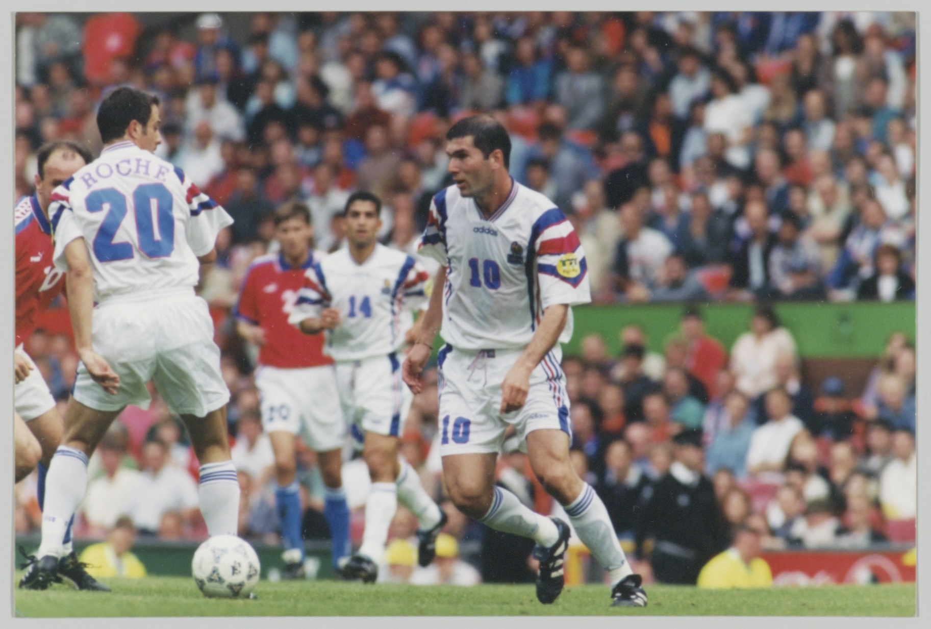 Zinedine Zidane en demi-finale de l'Euro 1996